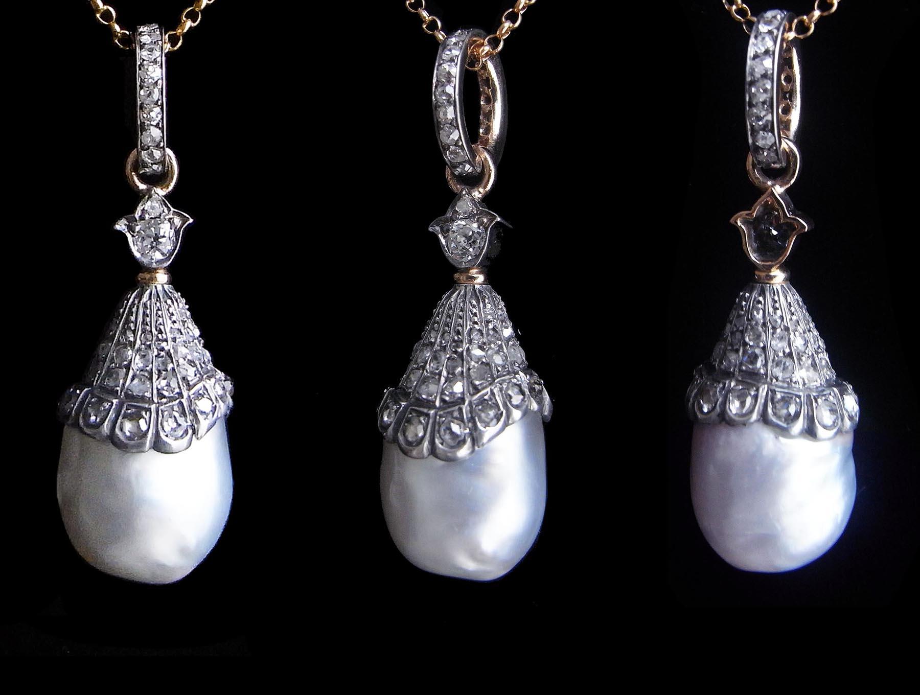 ダイヤモンドのアンティークペンダント