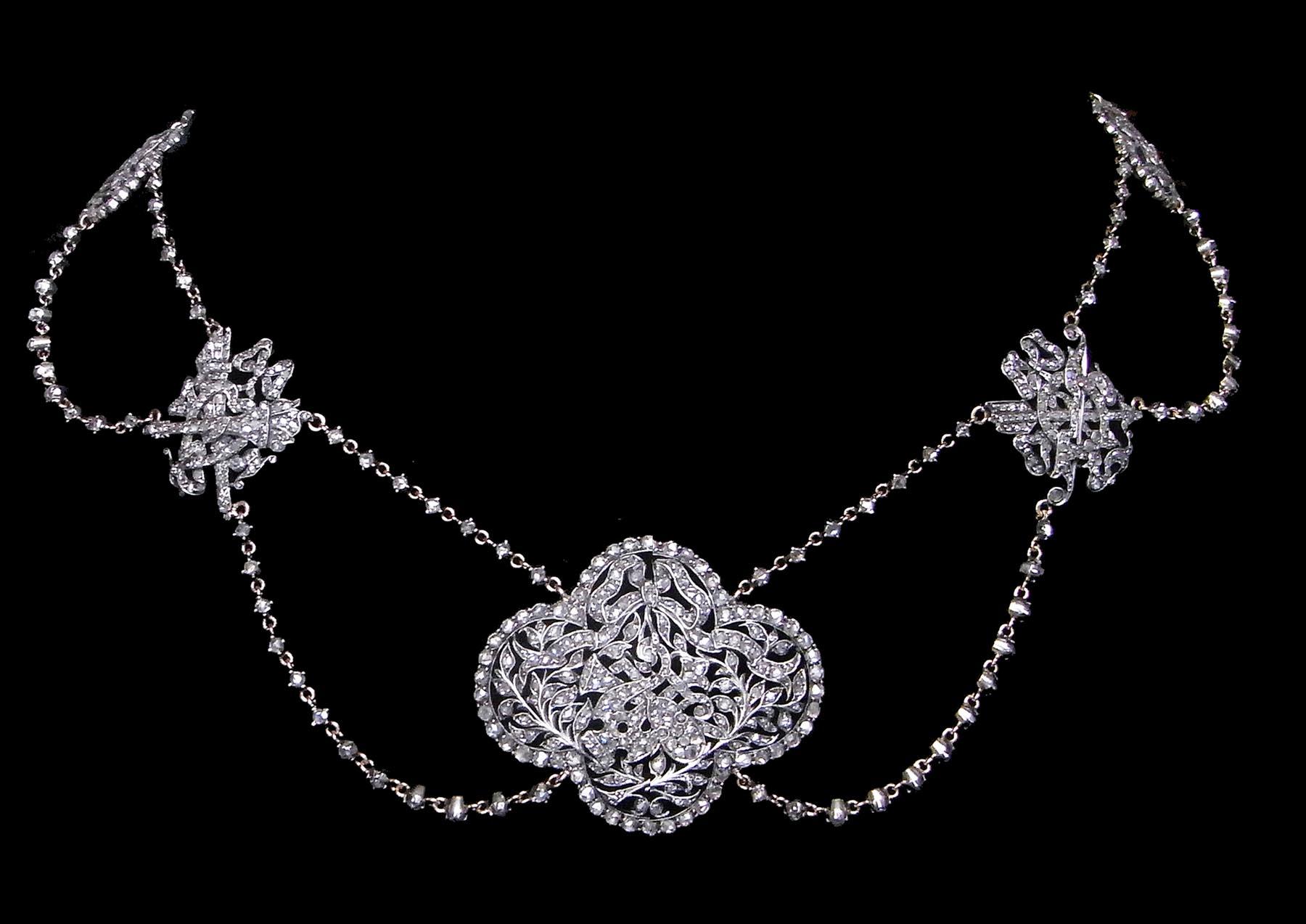 18世紀 ダイヤモンドネックレス エスクラヴァージュ / アンティークジュエリー