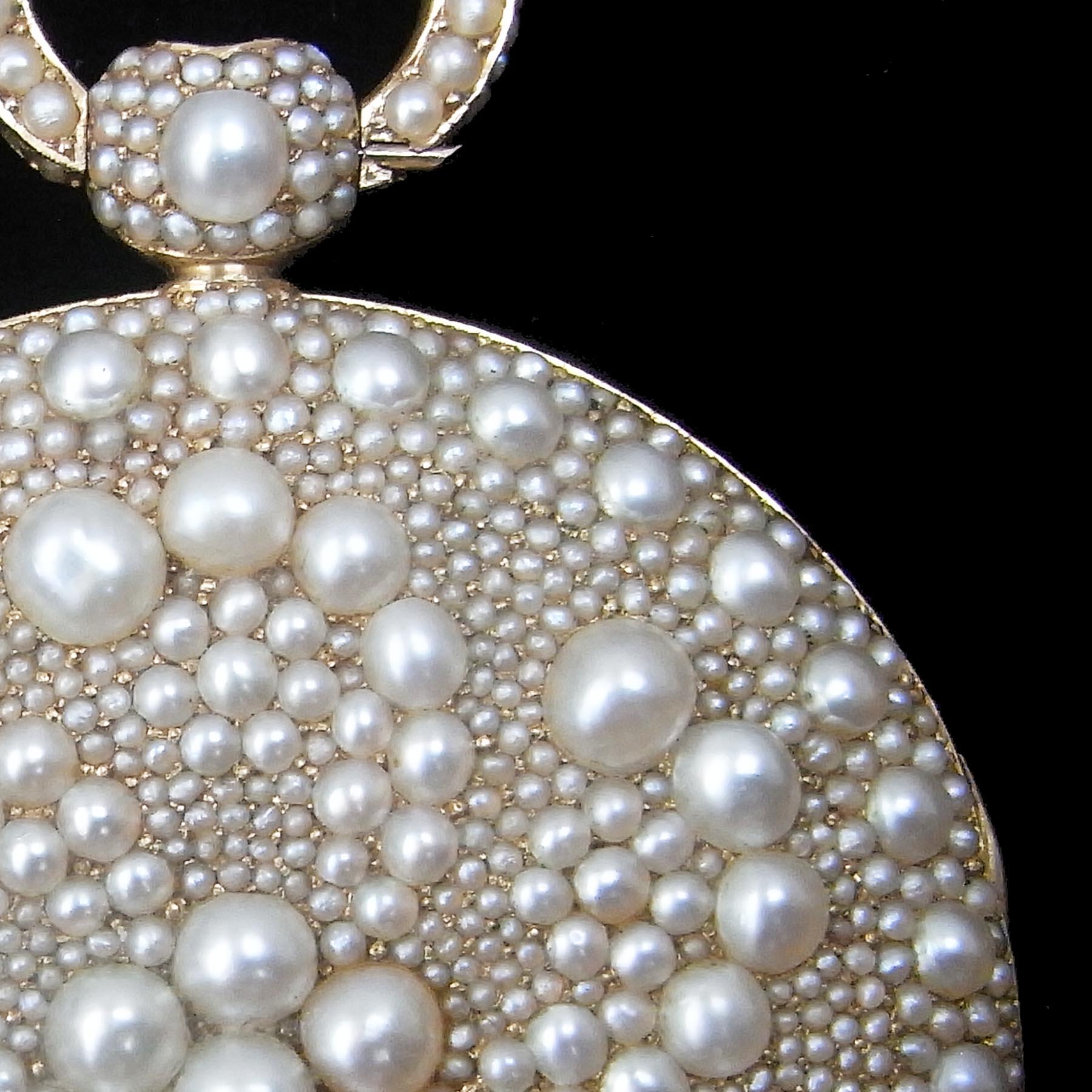 天然真珠の懐中時計アンティークジュエリー