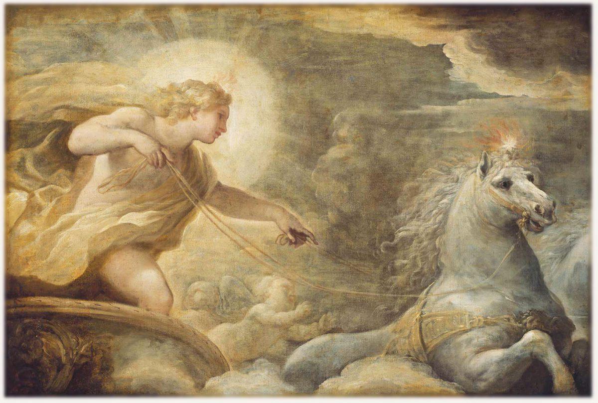 アポロンと黄金の馬車画像