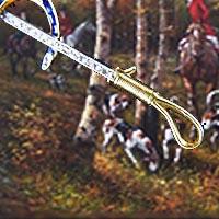 狩猟のモチーフアンティークブローチ