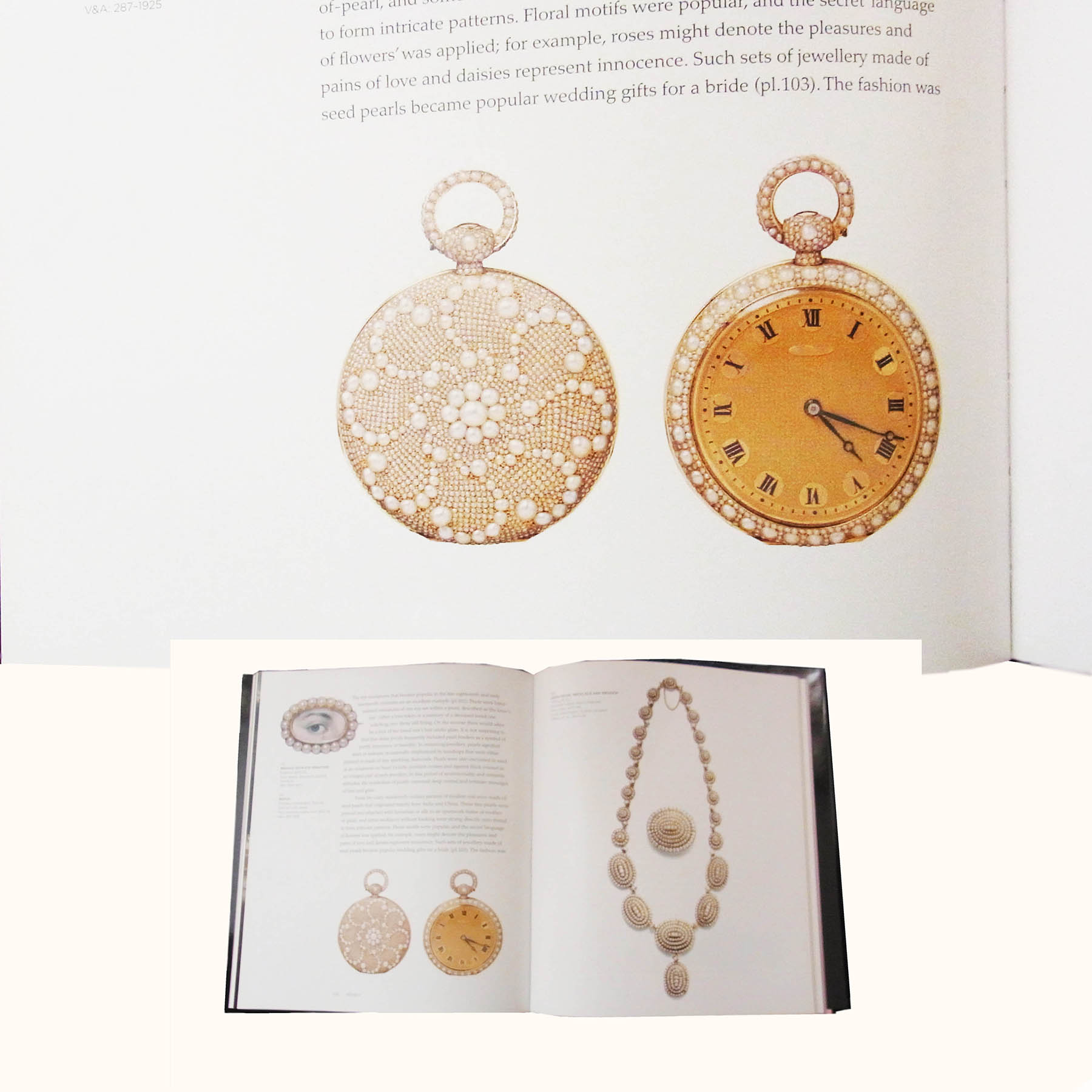 天然真珠 懐中時計 ポケットウオッチ アンティークジュエリー オブジェ フランス