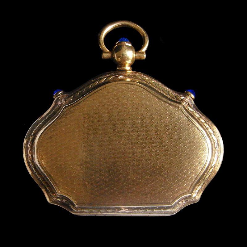 ギヨシェの18金製ケースアンティークジュエリー