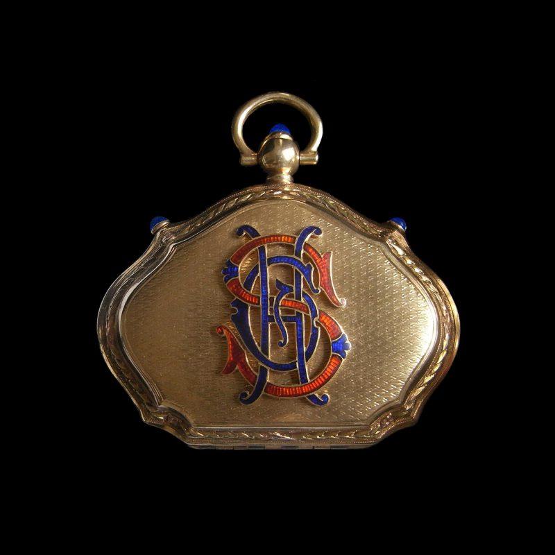 18金製フランスの19世紀アンティークコインケース