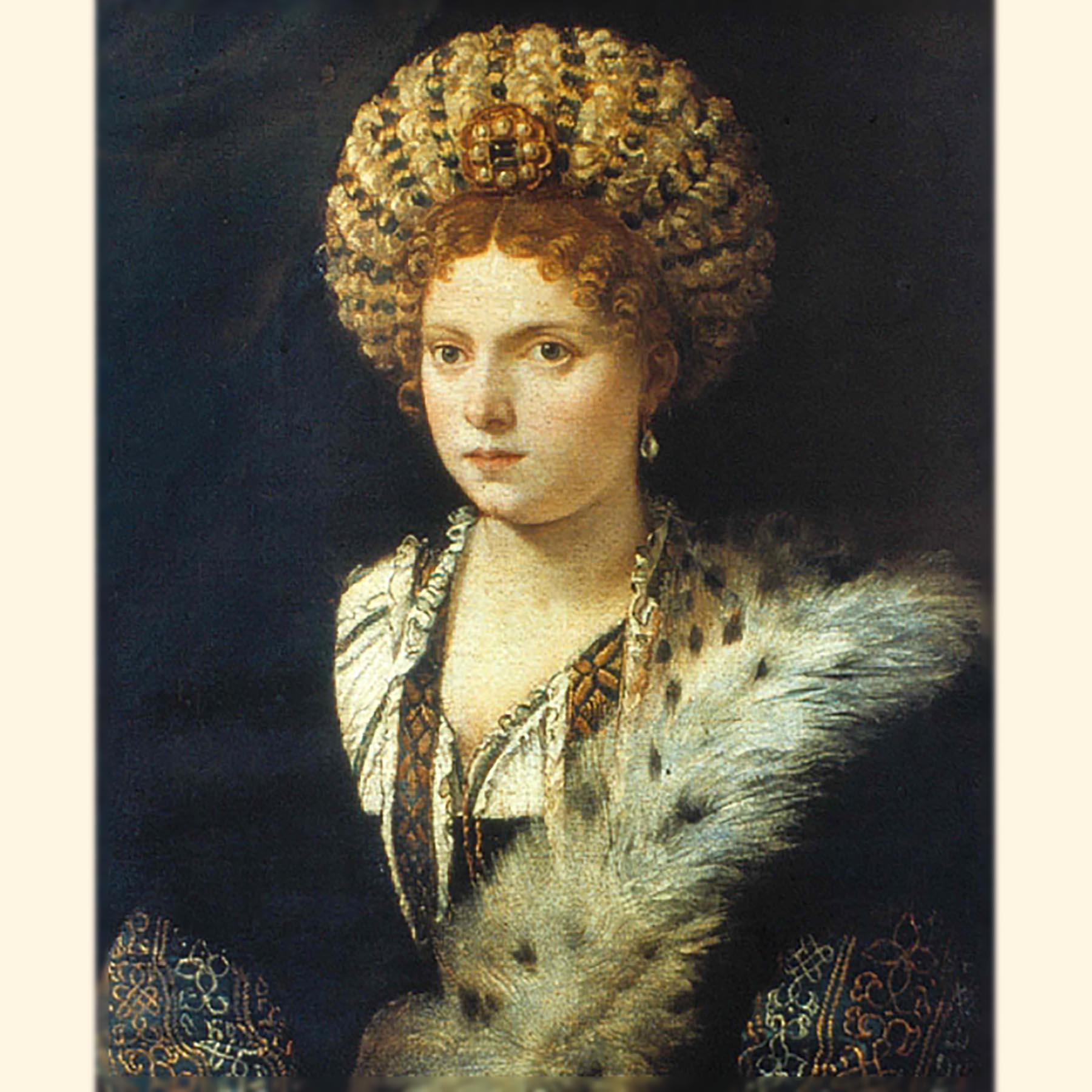 イザベラ・デステ ティツィアーノ画 1536-1537年 ウィーン美術館蔵