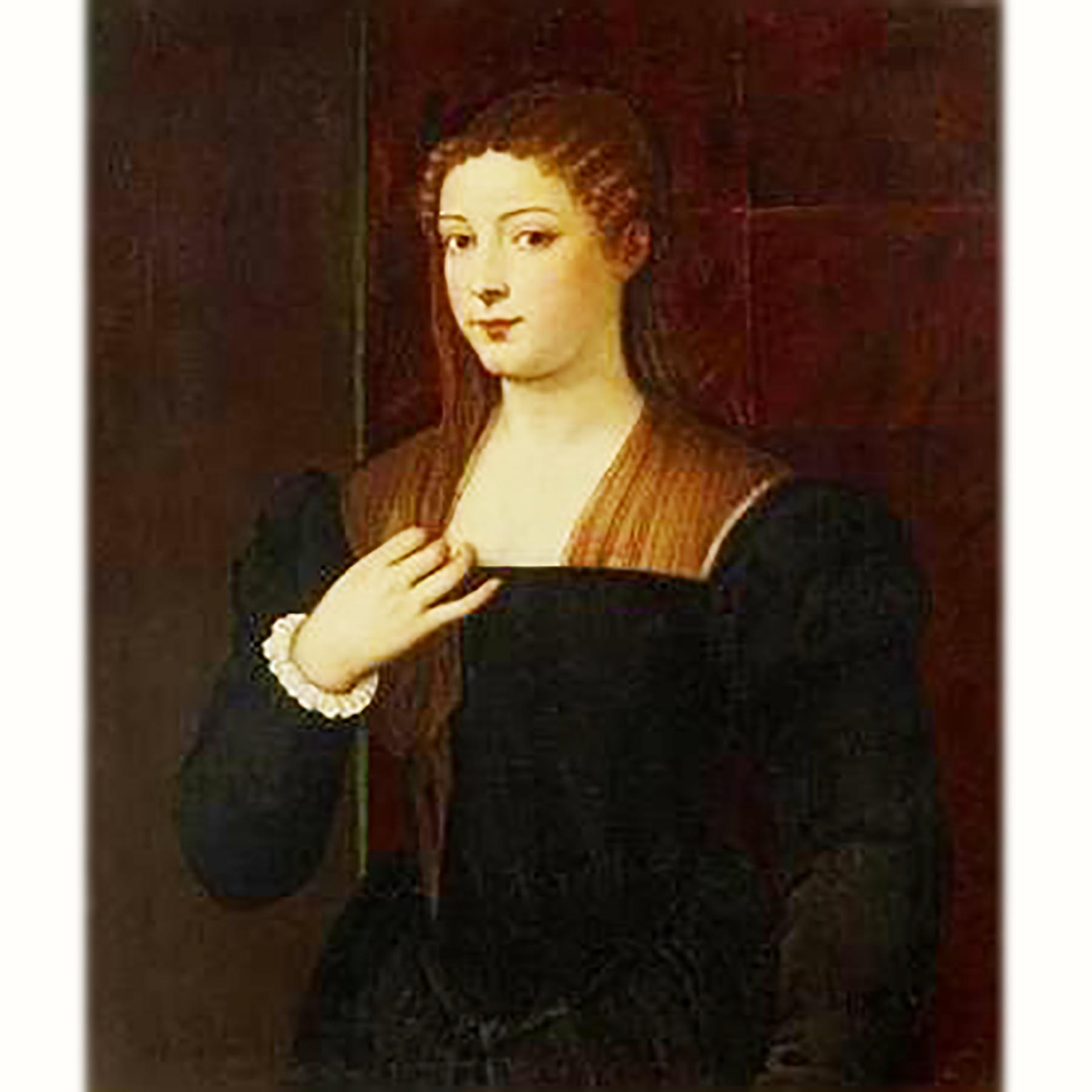 ジュリア・ゴンザーガの肖像 ティツィアーノ画 16世紀中期