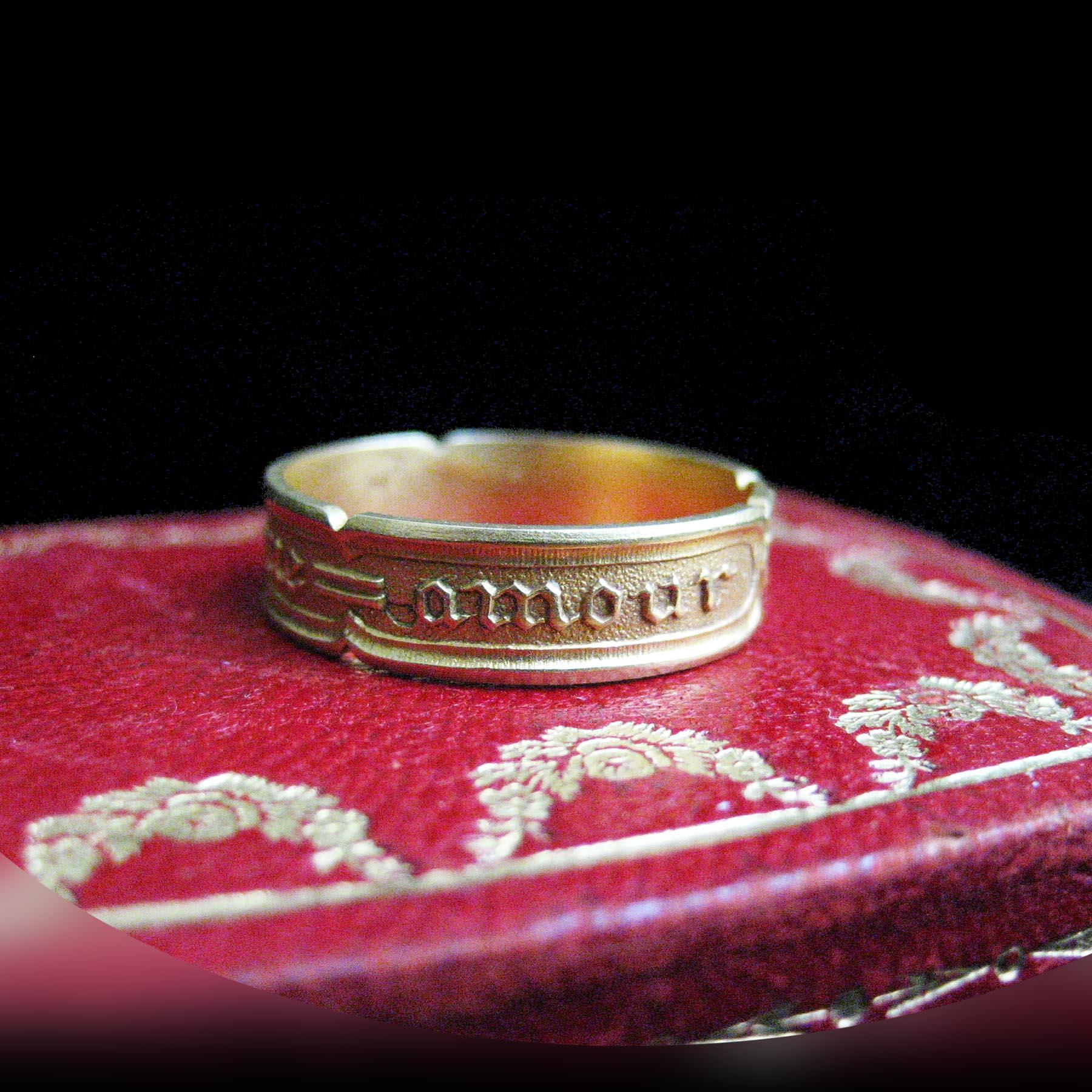 18金製彫金の指輪 フランスアンティークジュエリー