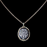 N°0767 ダイヤモンドのジャルディネッティ_アンティークペンダント