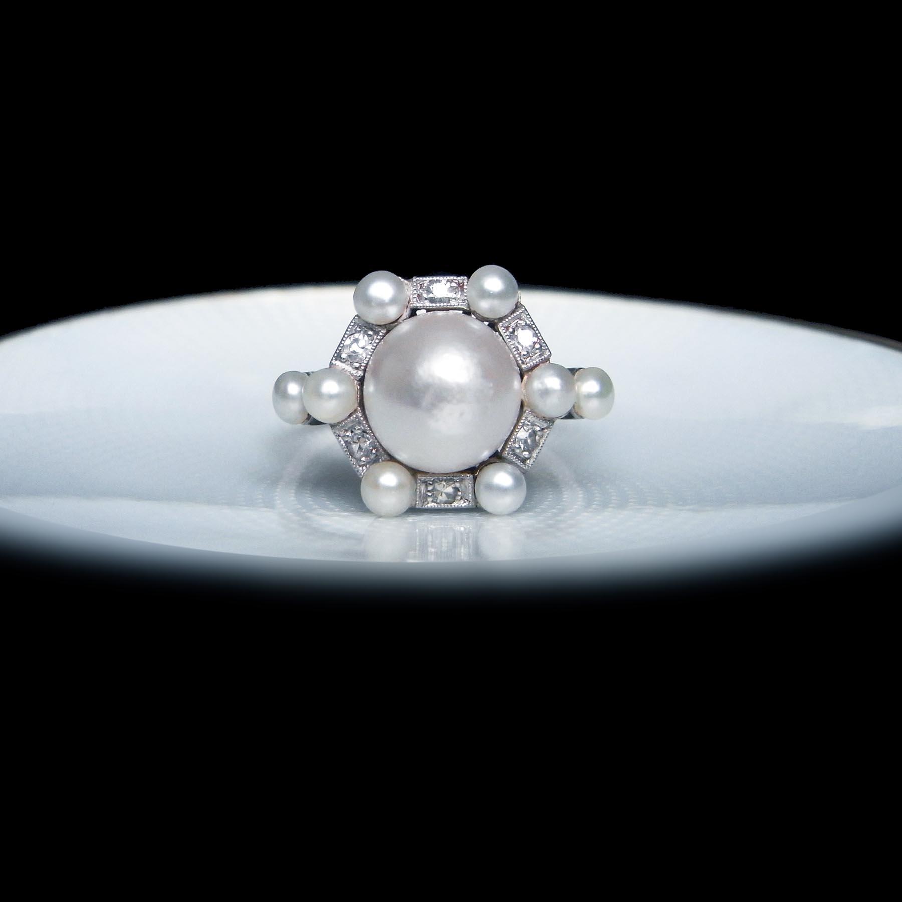 天然真珠 指輪 アンティークジュエリー