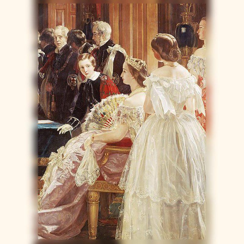 ナポレオン3世皇帝の皇后ウージェニーと皇太子 1855年