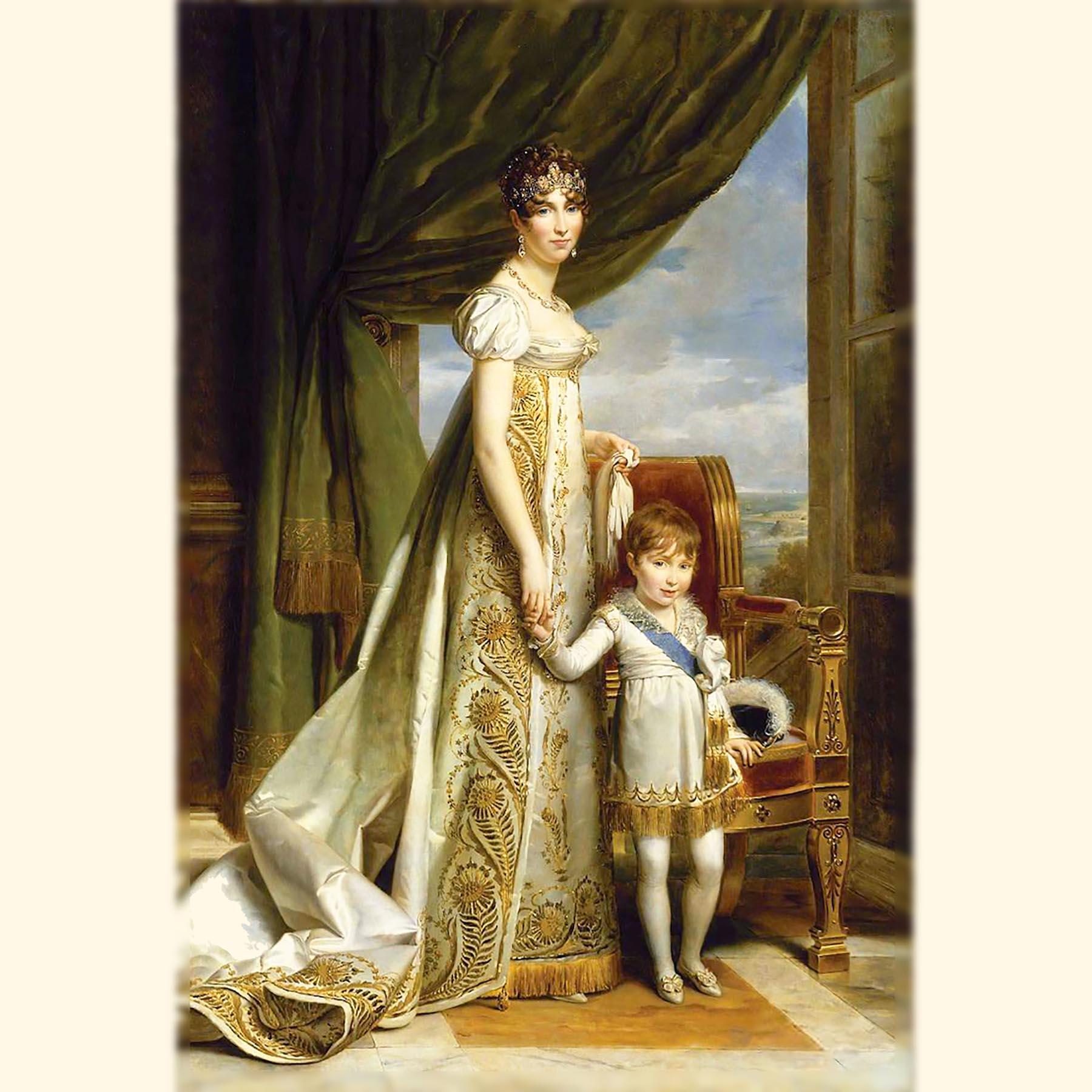 古代様式のドレスのジョゼフィーヌ皇后