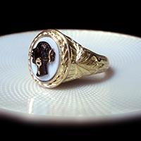 ブラッカムーア カメオの指輪 アンティーク