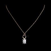 ダイヤモンドの亀アンティークジュエリーペンダント