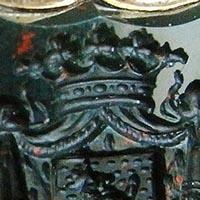 フロマン・ムーリス 紋章・彫金の指輪 アンティークリング