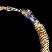 ウロボロスの蛇 19世紀初期のアンティークネックレス