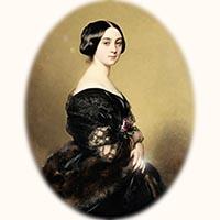 N°0846 ダイヤモンドとエマイユ 指輪 19世紀中期アンティークリングをつけた貴婦人