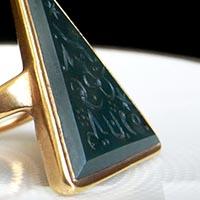 魔法のシンボル インタリオの指輪/18世紀アンティークジュエリー
