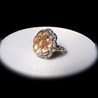 18世紀 ポルトガル王国 インペリアルトパーズ 指輪