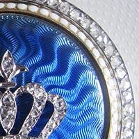 カルティエアンティークロケットペンダント ギヨシェエマイユ ダイヤモンドの王冠