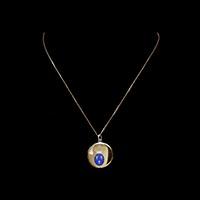 カルティエ アンティークロケットペンダント 王冠 百合の紋章 ダイヤモンドモノグラム