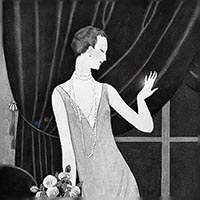 フランス アール・デコ時代 アンティークダイヤモンドリングを着ける女性