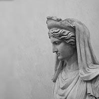 ユノー女神 エメラルド インタリオ/アンティークジュエリー
