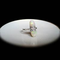 オパール ダイヤモンド 指輪 / アンティークジュエリー