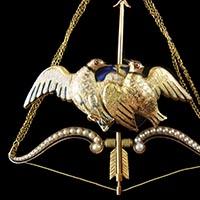 オワゾー・ダムール 18世紀フランス 開閉式装飾時計/アンティークオブジェ