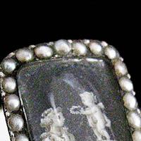18世紀 ミニアチュールの指輪 グリザイユ技法/アンティークジュエリー