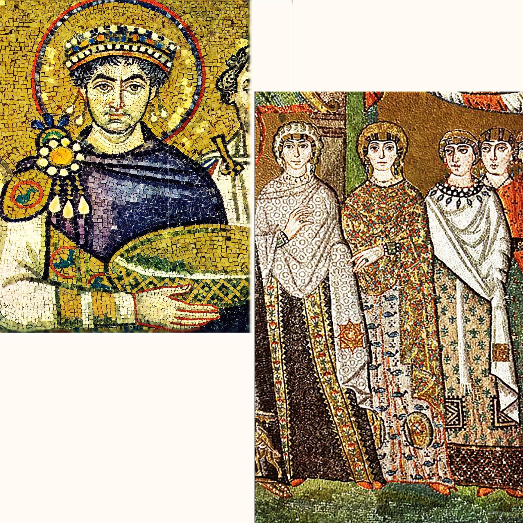 サン・ヴィターレ聖堂 モザイク ユスティニアス帝とテオドラ皇后