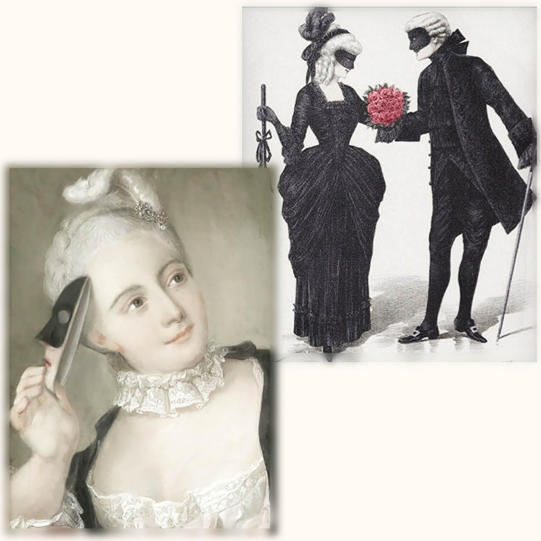 ヴェネツィアン マスク18世紀フランス 仮面舞踏会