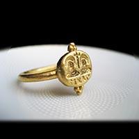 ビザンティン帝国 12世紀 黄金の指輪 / アンティークジュエリー