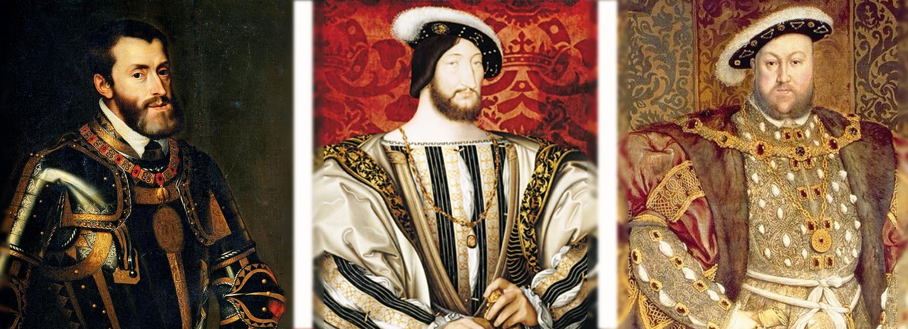 フランス フランソワ1世 16世紀 イングランド ヘンリー8世 神聖ローマ帝国皇帝カール5世 アンティークジュエリー
