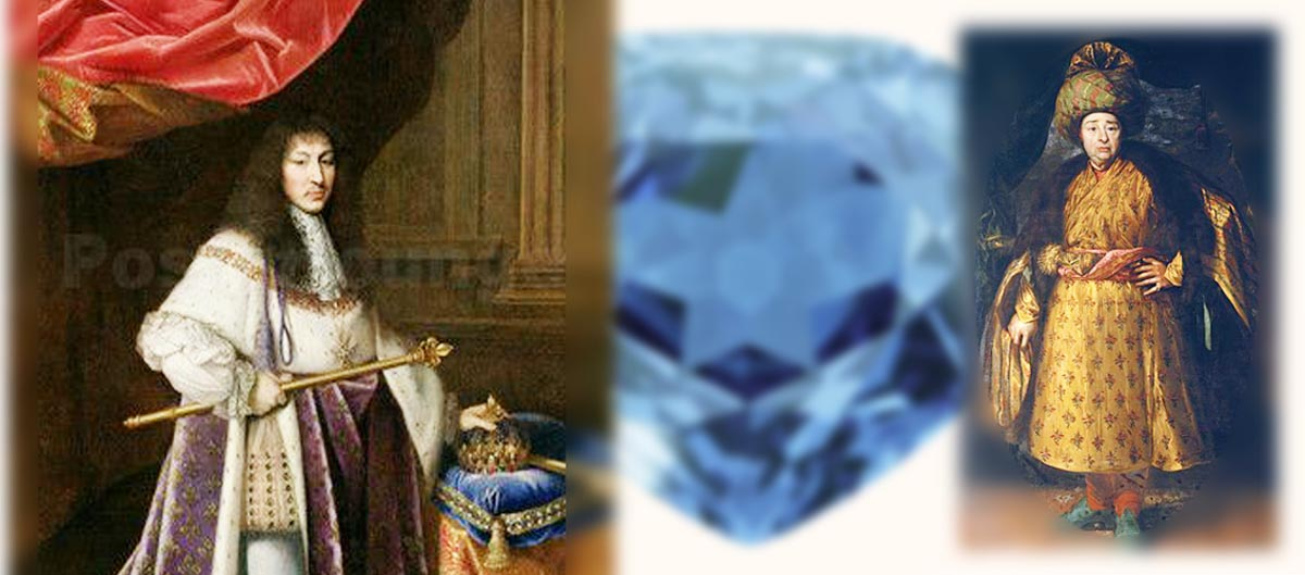 ルイ14世 現在のホープダイヤモンド ダイヤモンド商人ダヴェルニエ_インド装束にて
