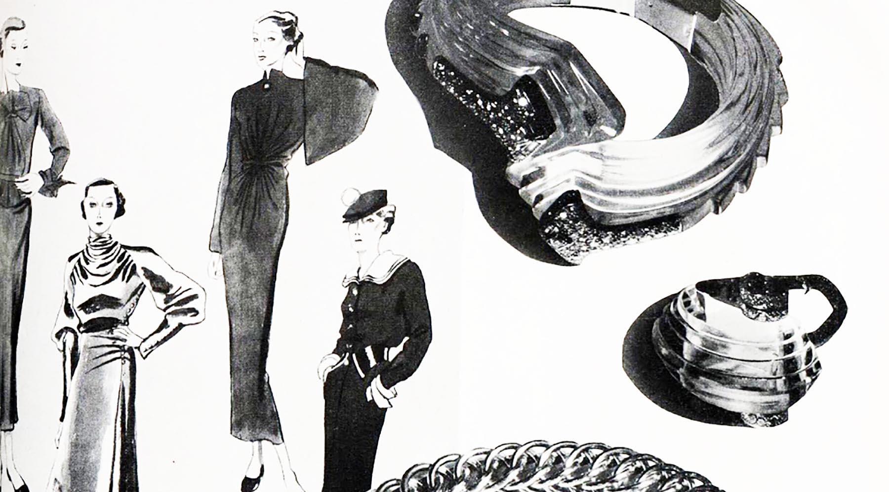 1940年代のパリ・モードとアール・デコ後期のジュエリー